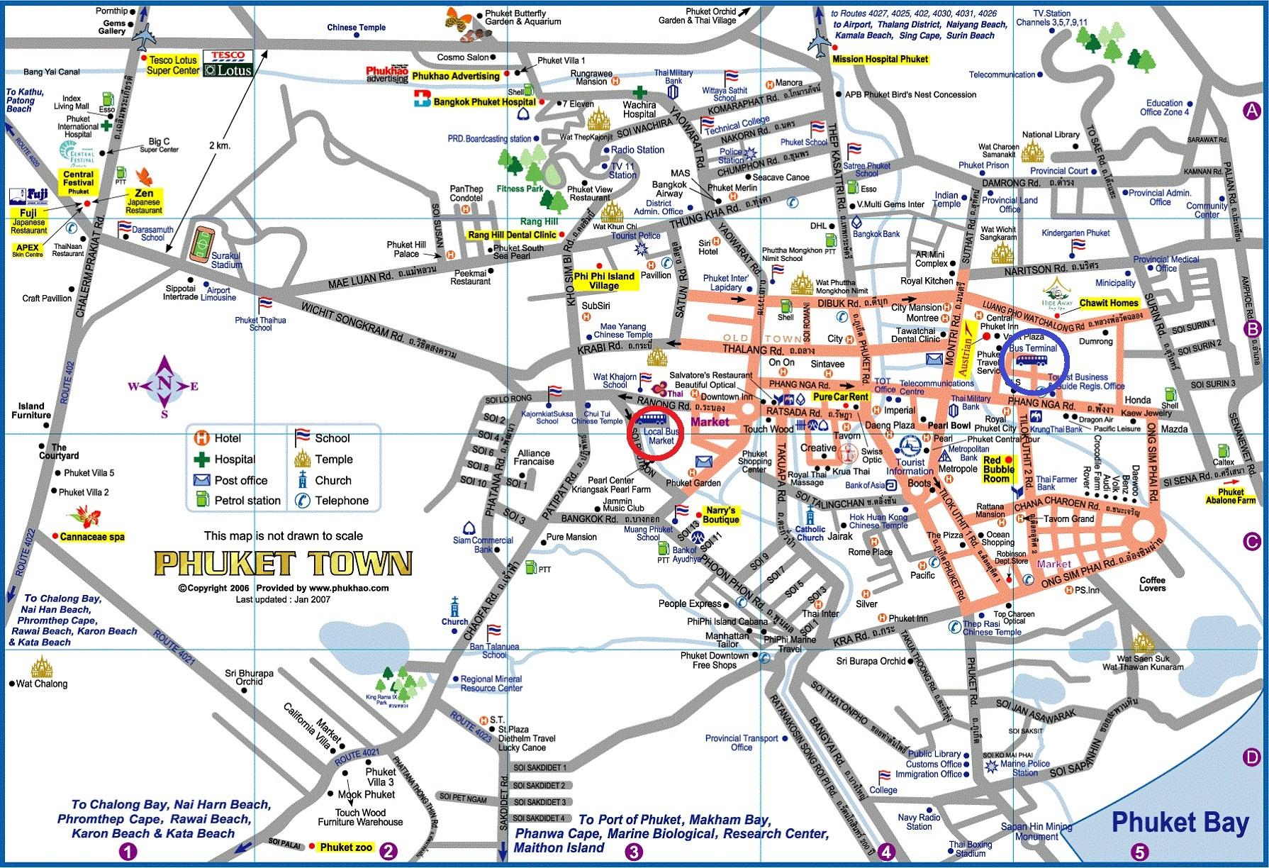 паттайя общественный транспорт схема движения
