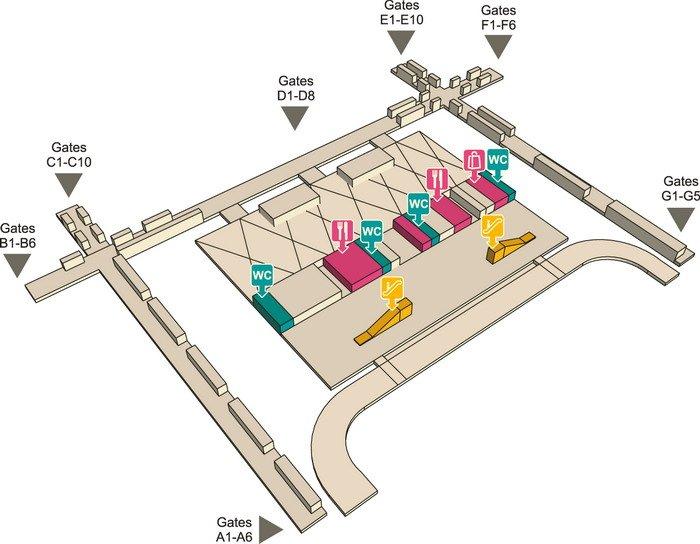 Аэропорт Бангкока Суварнабхуми (Suvarnabhumi, BBK) - табло, схема и отели рядом