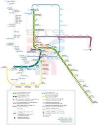 Схема наземного метро Бангкока (BTS)